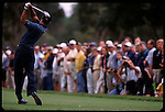 Tiger Woods tees off at the Genuity Open at Doral in Miami, Fl.