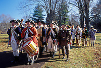 Washington Crossing Historic Park, PA, Pennsylvania, 225th Anniversary of General George Washington and his soldiers crossing the Delaware re-enactment on Christmas Day in the McConkey's Ferry Section of Washington Crossing Historic Park.