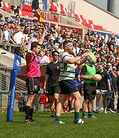 Monday 22nd April 2019   2019 Ulster Towns Cup Final<br /> <br /> Stuart Smyth during the Ulster Towns Cup final between Enniskillen and Ballyclare at Kingspan Stadium, Ravenhill Park, Belfast. Northern Ireland. Photo John Dickson/Dicksondigital