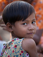 Girl in a small village near Bagan, Myanmar