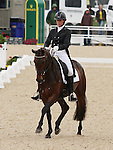 April 25, 2014: Veronica and Lauren Kieffer compete in Dressage at the Rolex Three Day Event in Lexington, KY at the Kentucky Horse Park.  Candice Chavez/ESW/CSM