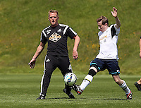 Pictured: Swansea manager Garry Monk Thursday 21 May 2015<br />
