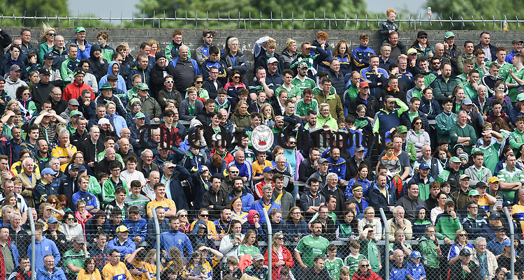 Fans look on during the Munster championship game in Ennis. Photograph by John Kelly.