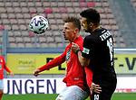 Fussball - 3.Bundesliga - Saison 2020/21<br /> Kaiserslautern -  Fritz-Walter-Stadion 07.04.2021<br /> 1. FC Kaiserslautern (fck)  - FSV Zwickau (zwi) 2:2<br /> Marvin POURIE(1. FC Kaiserslautern), li - Davy FRICK (FSV Zwickau)<br /> <br /> Foto © PIX-Sportfotos *** Foto ist honorarpflichtig! *** Auf Anfrage in hoeherer Qualitaet/Aufloesung. Belegexemplar erbeten. Veroeffentlichung ausschliesslich fuer journalistisch-publizistische Zwecke. For editorial use only. DFL regulations prohibit any use of photographs as image sequences and/or quasi-video.