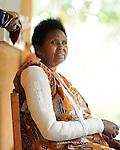 A woman in a sling at  Kibuye Hospital, Karongi District, Western Rwanda
