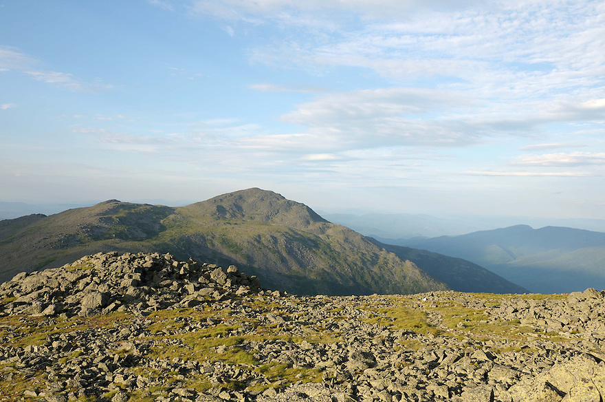 A rugged view out to Mt. Adams, from above tree line on the Presidential Range, New Hampshire White Mountains.