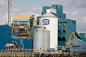 The Tate & Lyle sugar refinery, Silvertown, London.