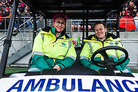 Ambulance staff during the Bledisloe Cup rugby union match between the New Zealand All Blacks and Australia Wallabies at Sky Stadium in Wellington, New Zealand on Sunday, 11 October 2020. Photo: Dave Lintott / lintottphoto.co.nz