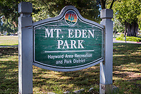 In the midst of urban life, a park offers peace and quite.  And a mansion.  Mt. Eden Park in Hayward, California.