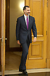 Prince Felipe if Spain attends an audience for CEPSA administration advisers at Zarzuela Palace in Madrid, Spain. December 09, 2013. (ALTERPHOTOS/Victor Blanco)