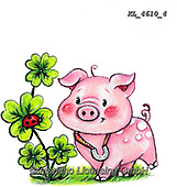 NY, paintings+++++,KL4610/4,#ny#, EVERYDAY ,sticker,stickers, new year's eve ,pig,pigs