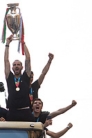 12.07.21 - Italy Football Team Meets PM & Held Parade In Rome's Streets - 2020 UEFA Euro Champions