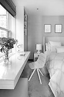 Contemporary bright bedroom