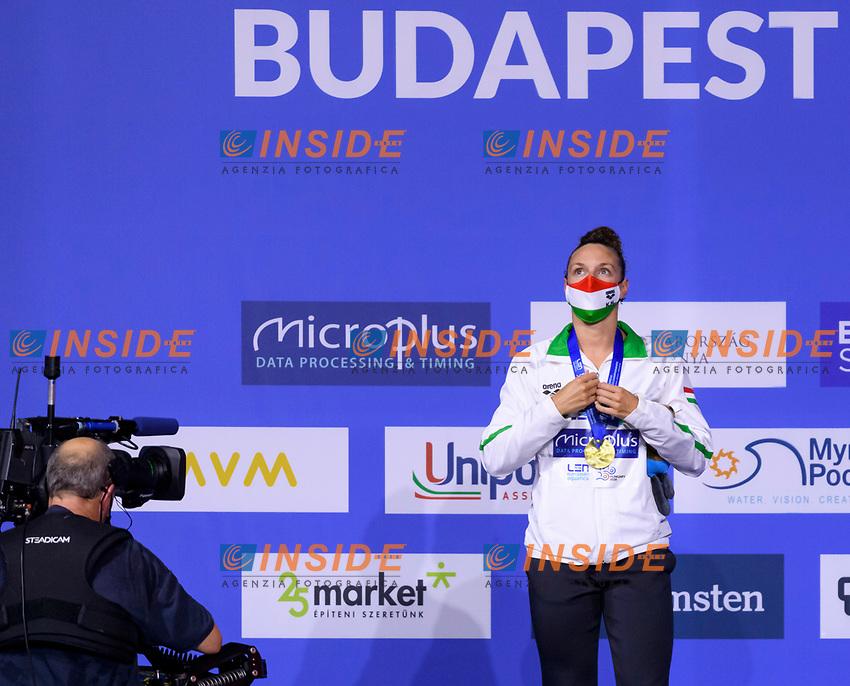 Gold Medal<br /> HOSSZUKatinka HUN<br /> 400m Individual Medley Women Final<br /> Swimming<br /> Budapest  - Hungary  17/5/2021<br /> Duna Arena<br /> XXXV LEN European Aquatic Championships<br /> Photo Giorgio Perottino / Deepbluemedia / Insidefoto