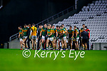 The Kerry team during the Munster GAA Football Senior Championship Semi-Final match between Cork and Kerry at Páirc Uí Chaoimh in Cork.