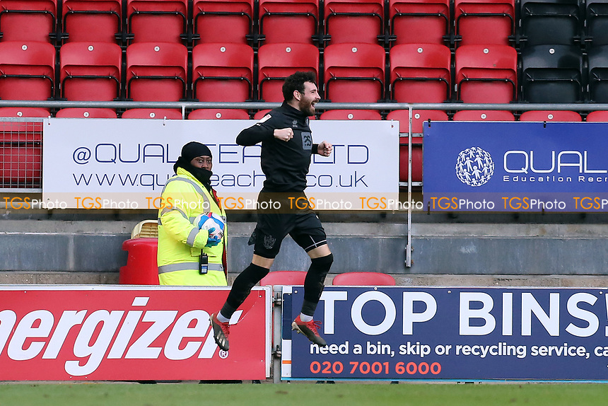 Vales Alex Hurst celebrates during Leyton Orient vs Port Vale, Sky Bet EFL League 2 Football at The Breyer Group Stadium on 20th February 2021