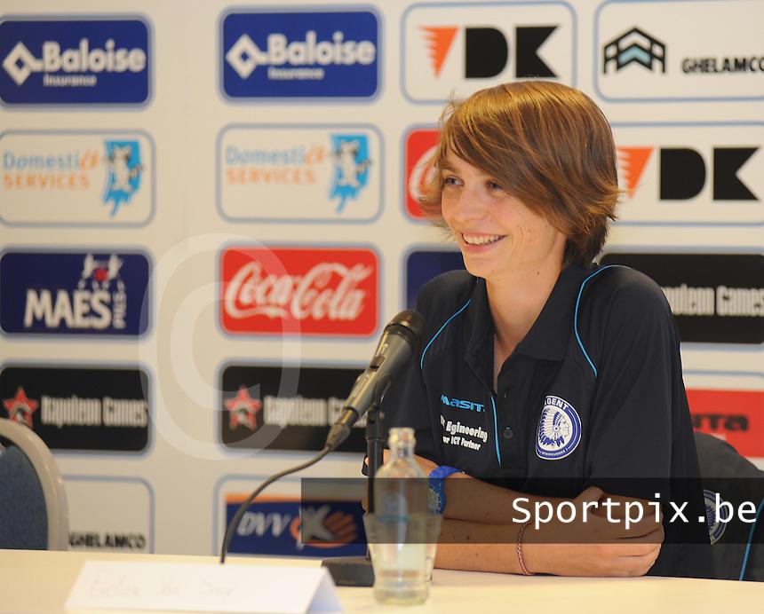 K AA Gent Ladies : Evelien Van Sinay<br /> foto Dirk Vuylsteke / nikonpro.be