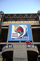 A general view of the exterior of the Loftus Versfeld Stadium. Italy defeated USA 3-1 during the FIFA Confederations Cup at Loftus Versfeld Stadium, in Tshwane/Pretoria South Africa on June 15, 2009.
