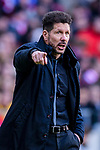 Coach Diego Simeone of Atletico de Madrid reacts in action during the La Liga 2017-18 match between Atletico de Madrid and RC Celta de Vigo at Wanda Metropolitano on March 11 2018 in Madrid, Spain. Photo by Diego Souto / Power Sport Images