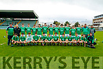 The Ballyduff team before the Kerry County Minor Hurling Championship Final match between Ballyduff and Ballyheigue at Austin Stack Park in Tralee, Kerry.