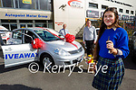 Tara Kissane form Killarney picks up her car on Monday, that she won from Kingdom Autopoint in Tralee in their recently run social media competition. Front right: Tara Kissane. Back l to r:  John Dillon (Sales Director) and Ken Wheeler (Senior Sales Executive)