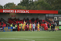 The teams take to the field during Bowers & Pitsea vs Hornchurch, Emirates FA Cup Football at The Len Salmon Stadium on 2nd October 2021