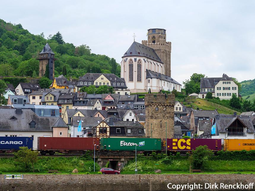 St. Martin, Oberwesel, Rheinland-Pfalz, Deutschland, Europa, UNESCO Weltkulturerbe<br /> St. Martin, Oberwesel, Rhineland-Palatinate, Germany, Europe