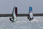 NELSON, NEW ZEALAND -SEPTEMBER 11: Windsurfing Atawahi, Nelson ,Saturday 11 September 2021,Nelson New Zealand. (Photo by  Shuttersport Limited)