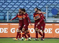 Football, Serie A: AS Roma - Parma, Olympic stadium, Rome, November 22, 2020. <br /> Roma's Borja Mayoral (r) celebrates after scoring with his teammates during the Italian Serie A football match between Roma and Parma at Rome's Olympic stadium, on November 22, 2020. <br /> UPDATE IMAGES PRESS/Isabella Bonotto