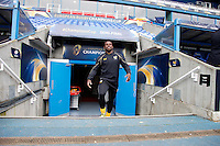 Photo: Richard Lane/Richard Lane Photography. Wasps Captains Run ahead of their game against Saracens in the European Champions Cup Semi Final at the Madejski Stadium. 22/04/2016. Christian Wade.