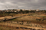 """Judea, Gush Etzion. A view of Alon Shvut from the """"Path of the Patriarchs"""""""