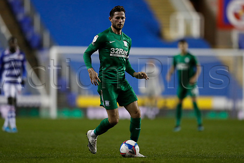 4th November 2020; Madejski Stadium, Reading, Berkshire, England; English Football League Championship Football, Reading versus Preston North End; Alan Browne of Preston North End