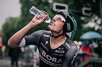 Marcus Burghardt (DEU/BORA-hansgrohe) hydrating after finishing his TT<br /> <br /> 104th Tour de France 2017<br /> Stage 1 (ITT) - Düsseldorf › Düsseldorf (14km)