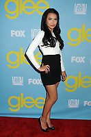 "13 July 2020 - Naya Rivera, the actress best known for playing cheerleader Santana Lopez on Glee, has been confirmed dead. Rivera, 33, is believed to have drowned while swimming in the lake with her 4-year-old son, who was found asleep on their rental pontoon boat after it was overdue for return. 1 May 2012 - North Hollywood, California - Naya Rivera. ""Glee"" Academy Screening and Q&A held at the A.T.A.S. Leonard H. Goldenson Theatre. Photo Credit: Byron Purvis/AdMedia"