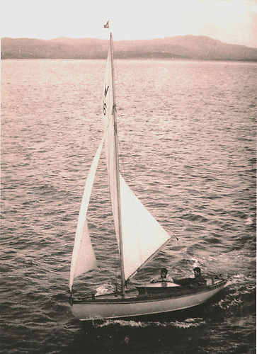 The smallest keelboat to go round Ireland entirely under sail is the MacLaverty brother's 18ft Belfast Lough Waverley Durward, seen here in Sheephaven in Donegal