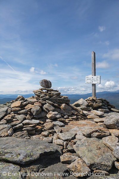 Scenic view from North Baldface Mountain during the summer months in the White Mountains, New Hampshire USA.