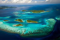 aerial, Tobago Cays, southern Grenadines, St. Vincent and the Grenadines, Caribbean, Atlantic