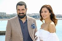 Bulent Inal et Ozlem Conker lors du photocall de THE LAST EMPEROR pendant le MIPTV a Cannes, le lundi 3 avril 2017.