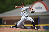 West Virginia Black Bears relief pitcher Brandon Bingel (37) delivers a pitch during a game against the Batavia Muckdogs on June 25, 2017 at Dwyer Stadium in Batavia, New York.  West Virginia defeated Batavia 6-4 in the completion of the game started on June 24th.  (Mike Janes/Four Seam Images)
