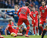 Dean Shiels fouled on the edge of the box