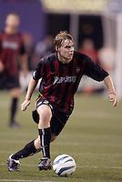 The MetroStars' Eddie Gaven. D.C. United defeated the MetroStars 1 to 0 in regular season MLS action on Saturday October 2, 2004 at Giant's Stadium, East Rutherford, NJ..