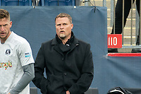 FOXBOROUGH, MA - APRIL 17: Darren Sawatzky head coach of Richmond Kickers during a game between Richmond Kickers and Revolution II at Gillette Stadium on April 17, 2021 in Foxborough, Massachusetts.