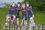 TRIALS: Finished their County Cycling Championships Trials on Wednesday evening held by the Killorglin Cycling Club on The Ballymacelligott Road to Castleisland and back were, The Chain Gang  Cycling team, Tralee, l-r:  Donnacha Galvin, Darragh Crowley,Donnacha Clifford, and Sean Williams.............