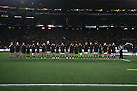 Anthem. All Blacks beat Australia 22-0. Eden Park, Auckland. 25 August 2012. Photo: Marc Weakley