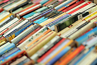 Hay on Wye. Friday 03 June 2016<br />Used books at the Oxfam Charity book store at the Hay Festival, Hay on Wye, Wales, UK