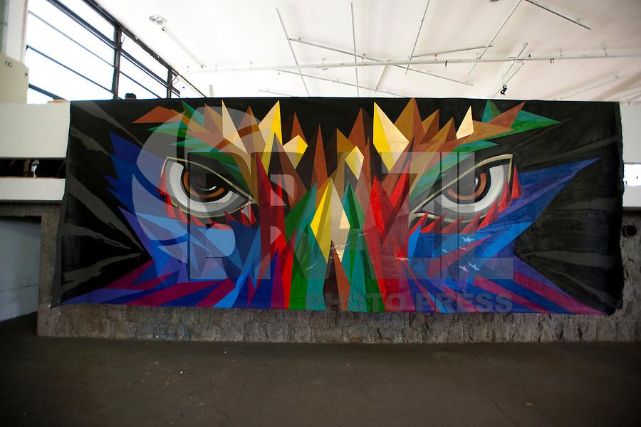 SAO PAULO, SP, 17.04.2015 - Abertura da Exposição da 3ªBienal do Grafitti no Pavilhão das Culturas Brasileiras, no Parque do Ibirapuera, inicio da tarde dessa sexta 17. ( Foto: Gabriel Soares/ Brazil Photo Press)