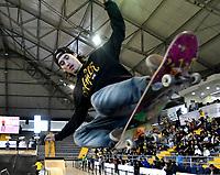 BOGOTA - COLOMBIA - 13 - 08 - 2017: Juan Pablo Velez, Skater de Colombia, durante competencia en el Primer Campeonato Panamericano de Skateboarding, que se realiza en el Palacio de los Deportes en la Ciudad de Bogota. / Juan Pablo Velez, Skater from Colombia, during a competitions in the First Pan American Championship of Skateboarding, that takes place in the Palace of Sports in the City of Bogota. Photo: VizzorImage / Luis Ramirez / Staff.