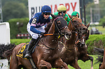 August 18, 2021: The Mean Queen (IRE) #6, ridden by jockey Thomas Garner wins the Grade 1 Jonathan Sheppard Handicap, formerly the New York Turf Writers Cup at Saratoga Race Course in Saratoga Springs, N.Y. on August 18, 2021. Rob Simmons/Eclipse Sportswire/CSM