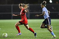 Piscataway, NJ - Sunday Sept. 25, 2016: Amandine Henry, Tasha Kai during a regular season National Women's Soccer League (NWSL) match between Sky Blue FC and the Portland Thorns FC at Yurcak Field.