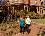October 26, 2017. Raleigh, North Carolina.<br /> <br /> Attendees admire the new gardens. <br /> <br /> A new garden designed by Ben Skelton containing native Plants For Birds was dedicated at the North Carolina Executive Mansion.